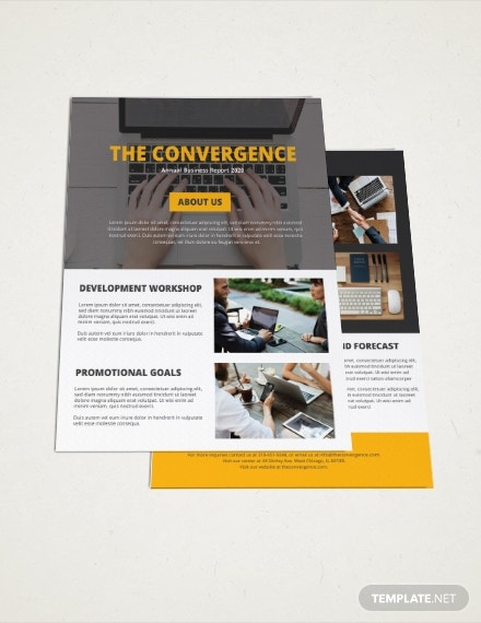 one page company brochure template