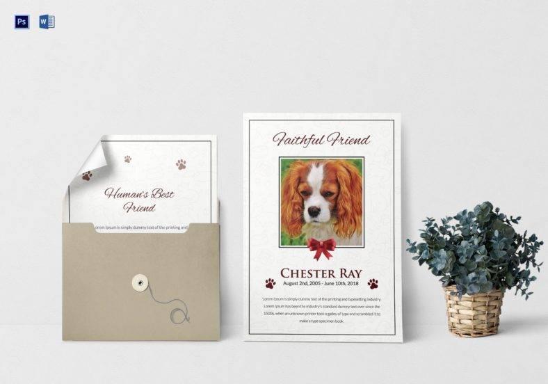 pet funeral program template 788x552