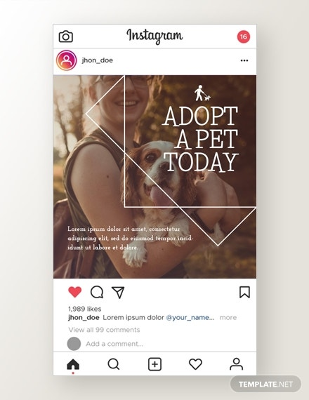 pets instagram ad template in psd