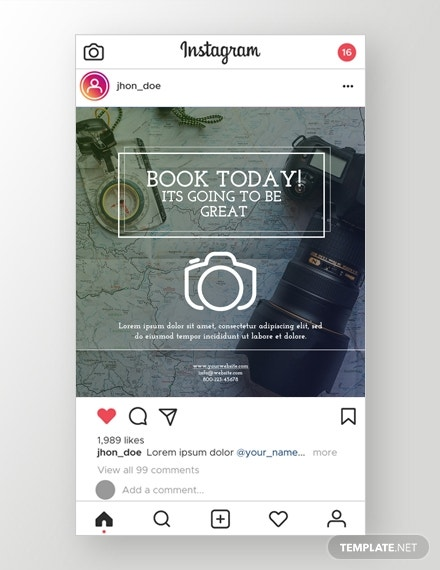 photography instagram ad psd template