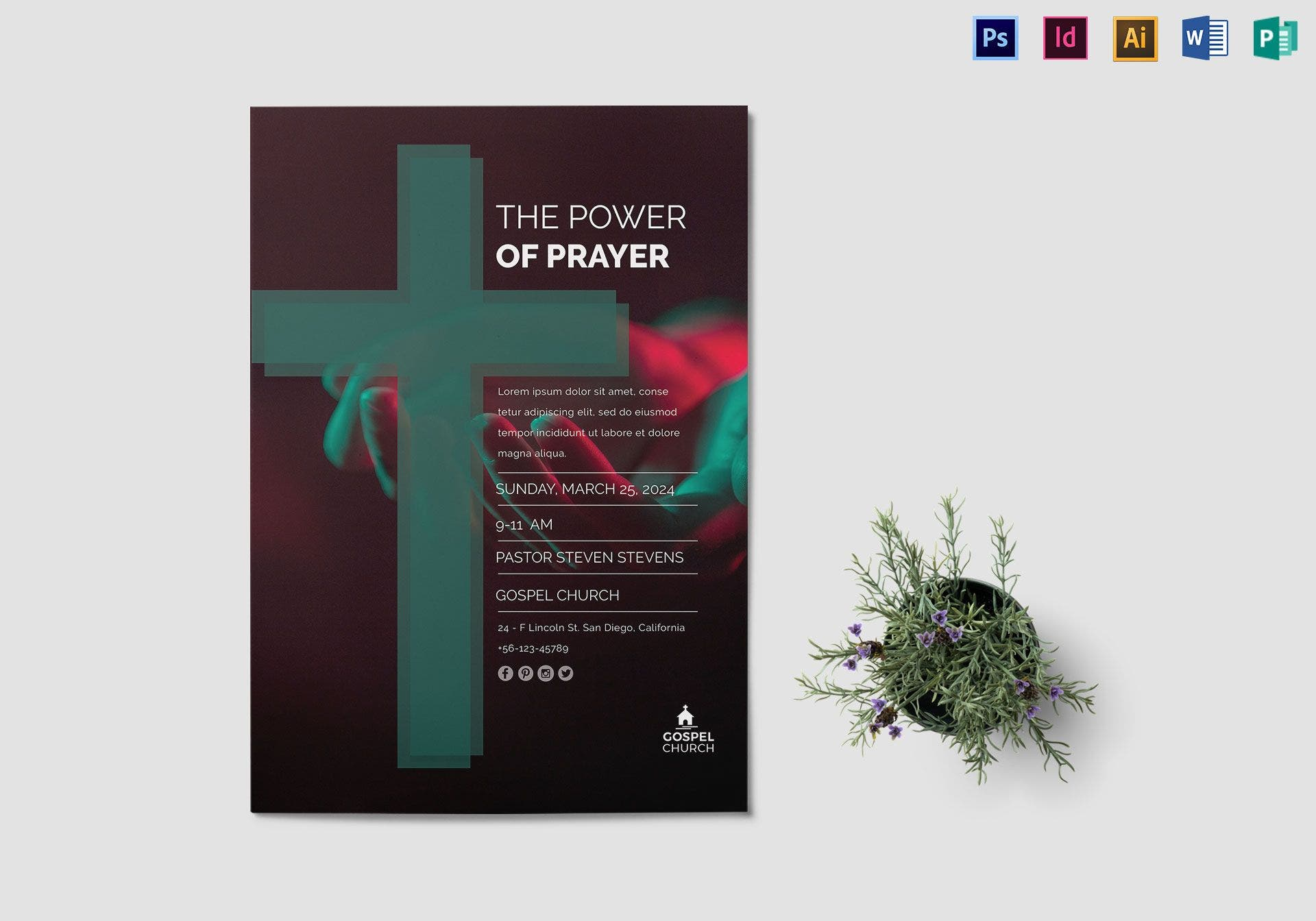 power of prayer church flyer sample