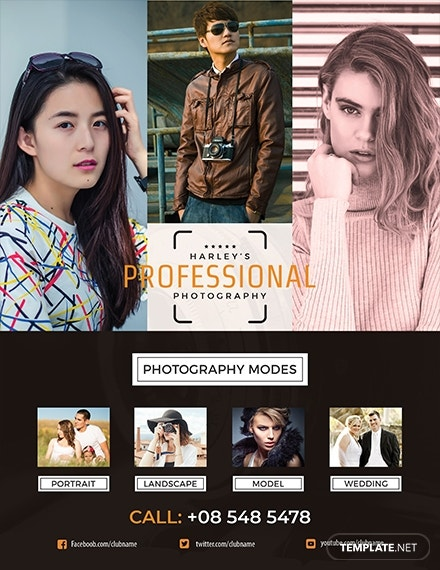 professional photography flyer template 1x