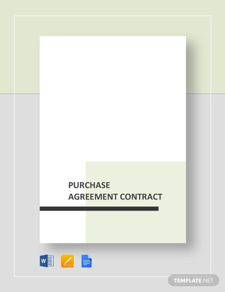purchase agreement contract form template