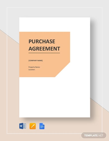 28 Purchase Agreement Templates Word Pdf Pages Free