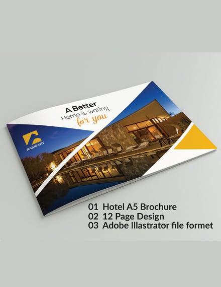 rasidant a5 hotel brochure layout