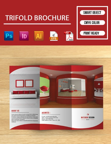 red interior trifold brochure format