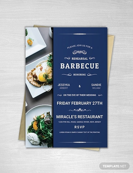 rehearsal barbecue party invitation template