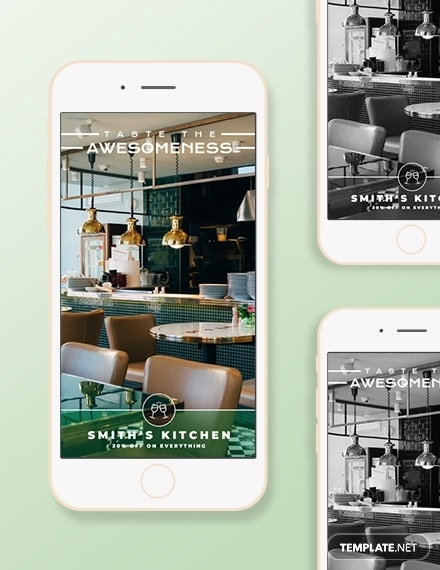 restaurant snapchat geofilters template psd