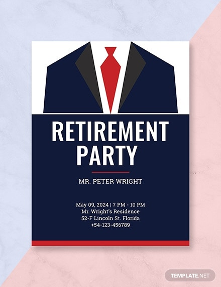retirement program template