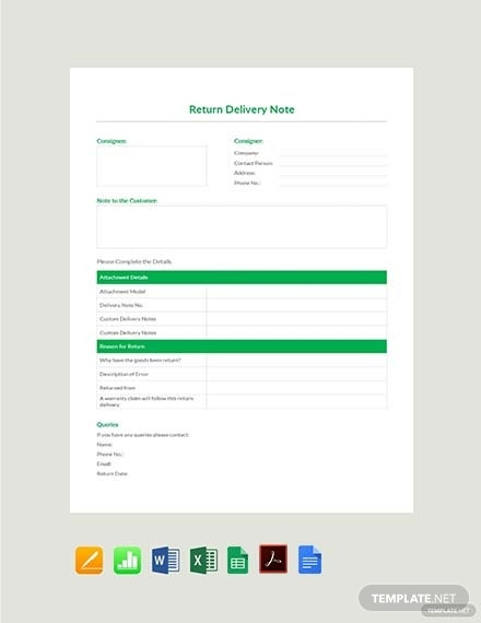 return delivery note template