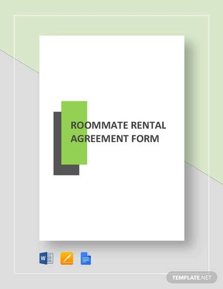 roommate rental agreement form