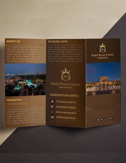 royal crown hotel brochure format