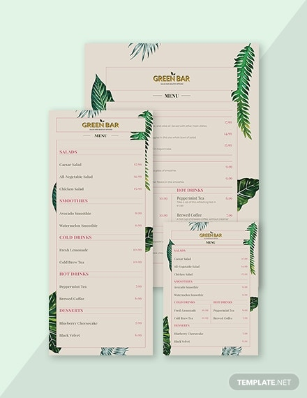 rustic bar menu 1x