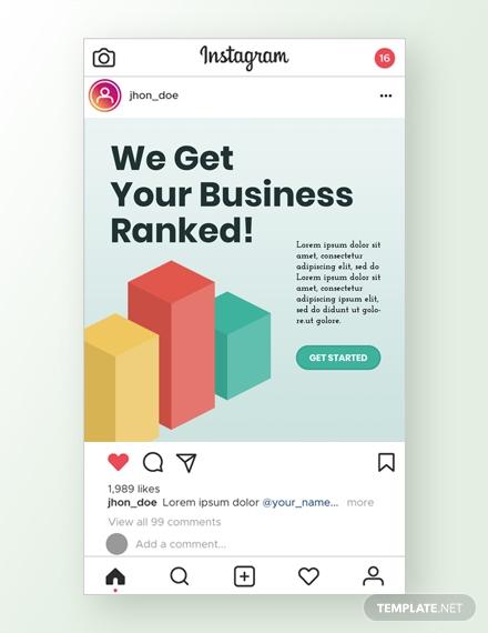 seo company instagram ad psd template