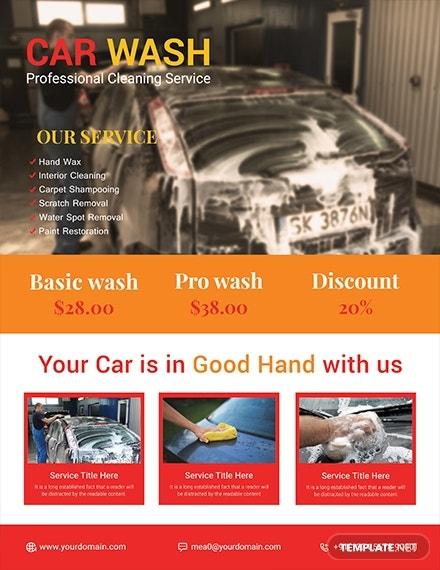 sample car wash flyer template 1x