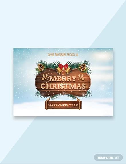 sample christmas greeting card template