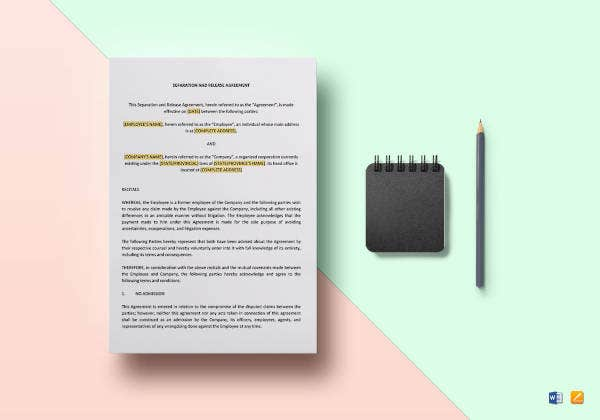separation and release agreement