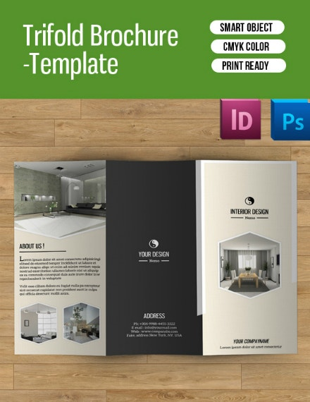 simple interior trifold brochure design