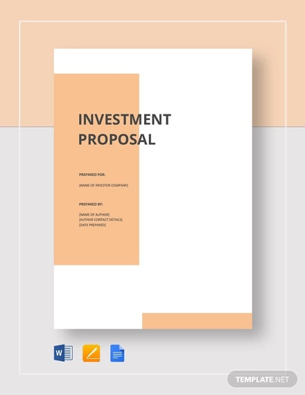 small business investment proposal template