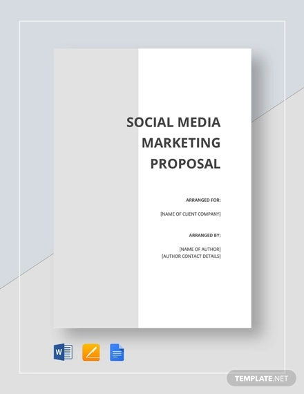 Social Media Proposal Templates 20 Free Word Pdf
