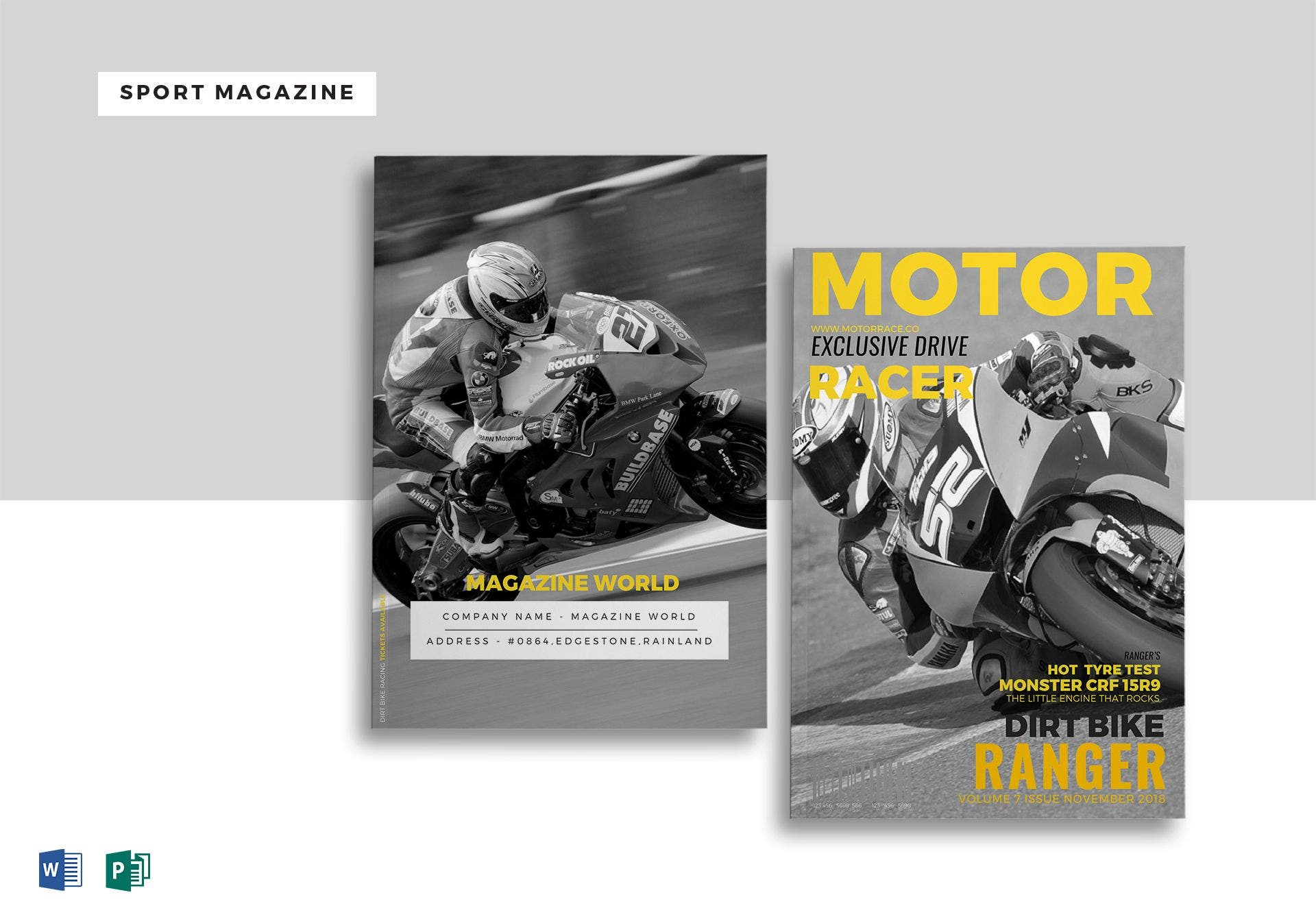 sport magazine template1 mock up