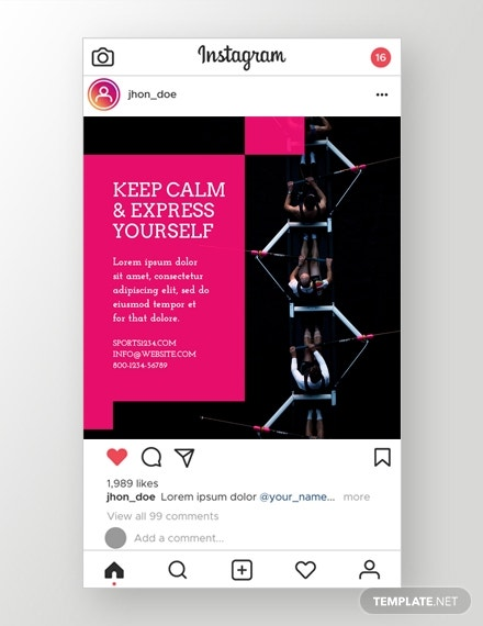 sports instagram ad template in psd