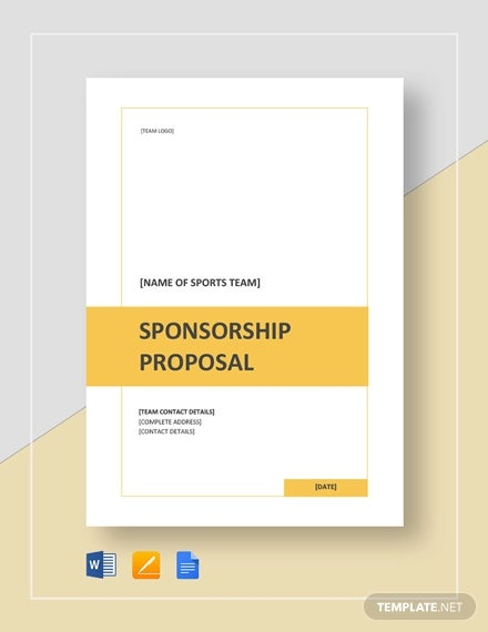 Sports Sponsorship Proposal Template - 15+ Free Word, PDF Format