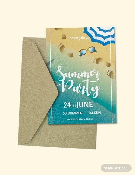 summer farewell party invitation example