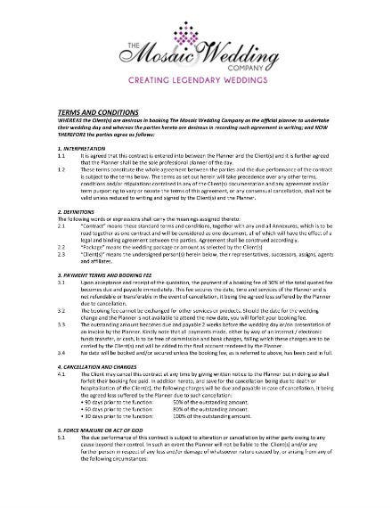 terms conditions mosaic weddings 1