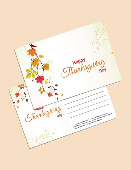 thanksgiving postcard template