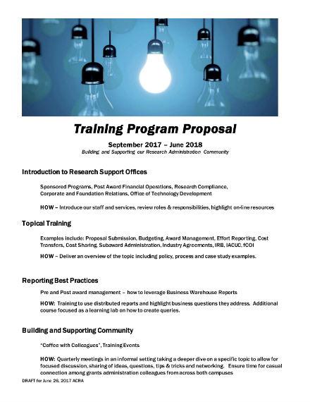 training program proposal 1