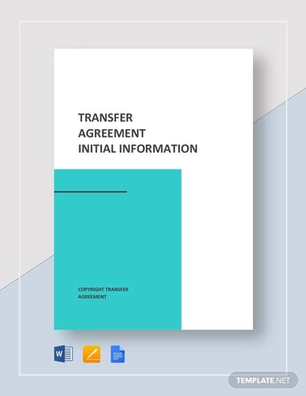 Transfer Agreement Template
