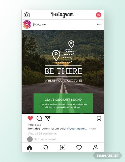 travel instagram ad template