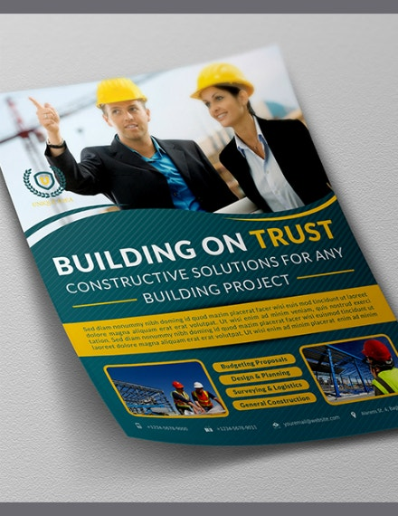 trust builders construction flyer sample