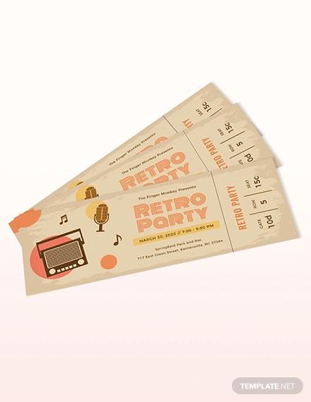 vintage ticket template1