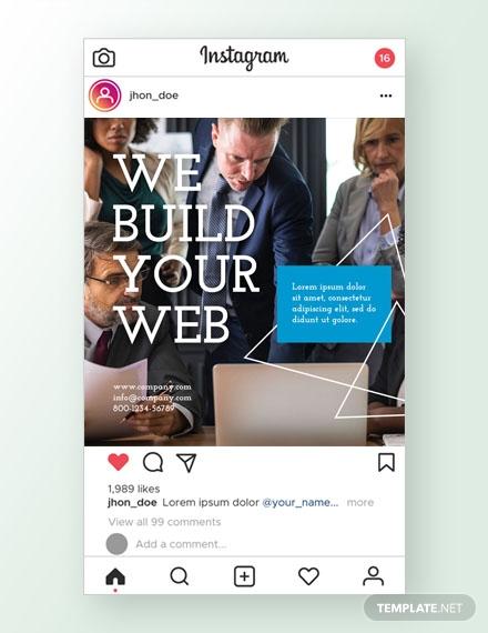 web design instagram ad template psd