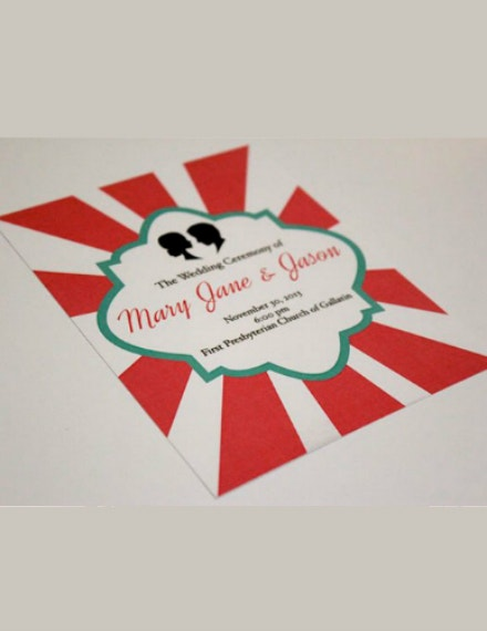 Wedding Ceremony Carnival Invitation Layout