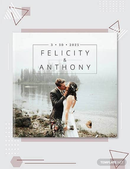 wedding photobook cover template