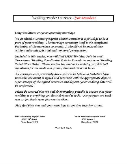 wedding planner contract 1