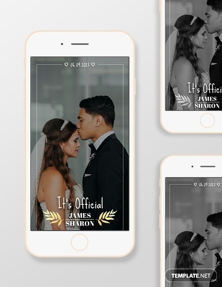 wedding snapchat geofilters template