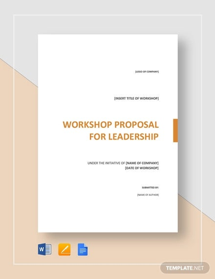How To Write A Workshop Proposal - PDF, Word | Free