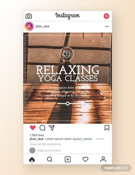 yoga instagram ad template
