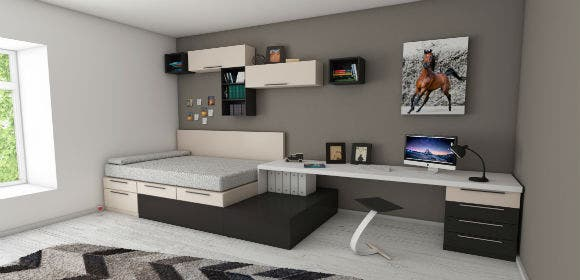 apartment bed bedroom 439227