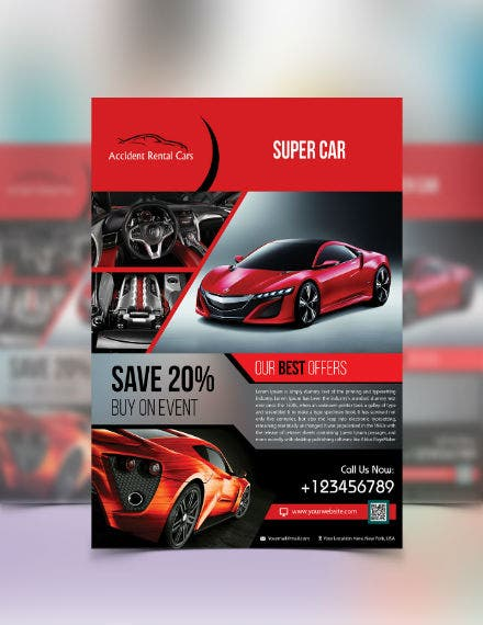 car sale flyer sample