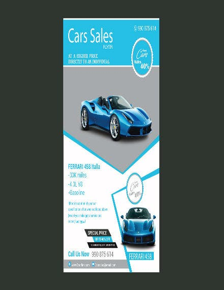 car sale flyer template
