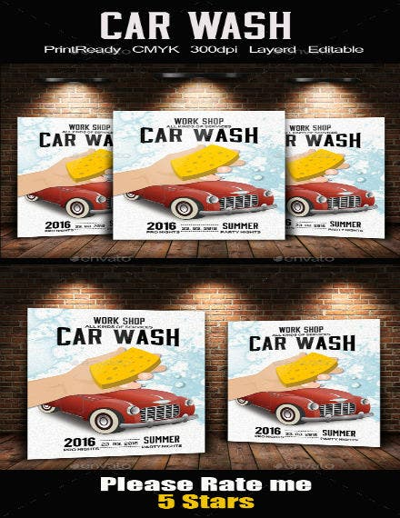 car wash service flyer