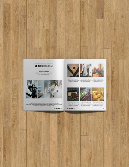 minimal interior brochure template