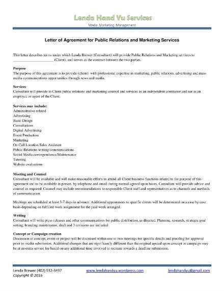service letter agreement 1
