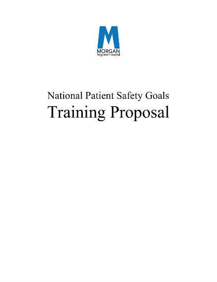 training proposal 01