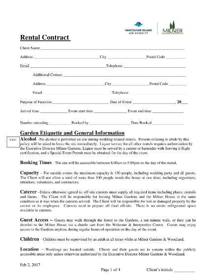 wedding and event contract 1